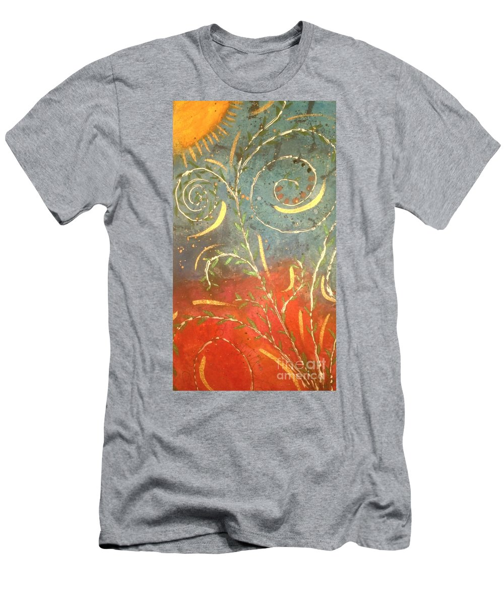 Greeting Cards Men's T-Shirt (Athletic Fit) featuring the digital art Flowing Wild In The Sun by Angela L Walker