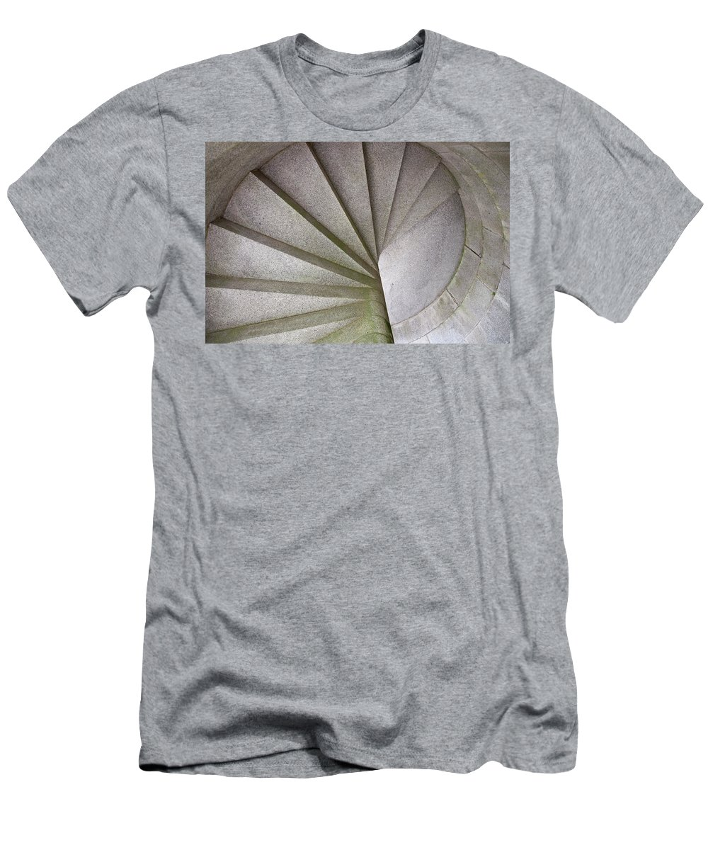 Fort Knox Men's T-Shirt (Athletic Fit) featuring the photograph Fort Knox Granite Spiral Staircase by Glenn Gordon