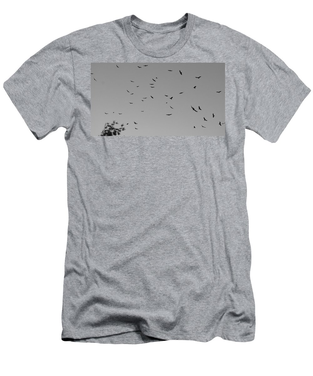 Buzzards Men's T-Shirt (Athletic Fit) featuring the photograph Forty Five Buzzards by Eric Tressler