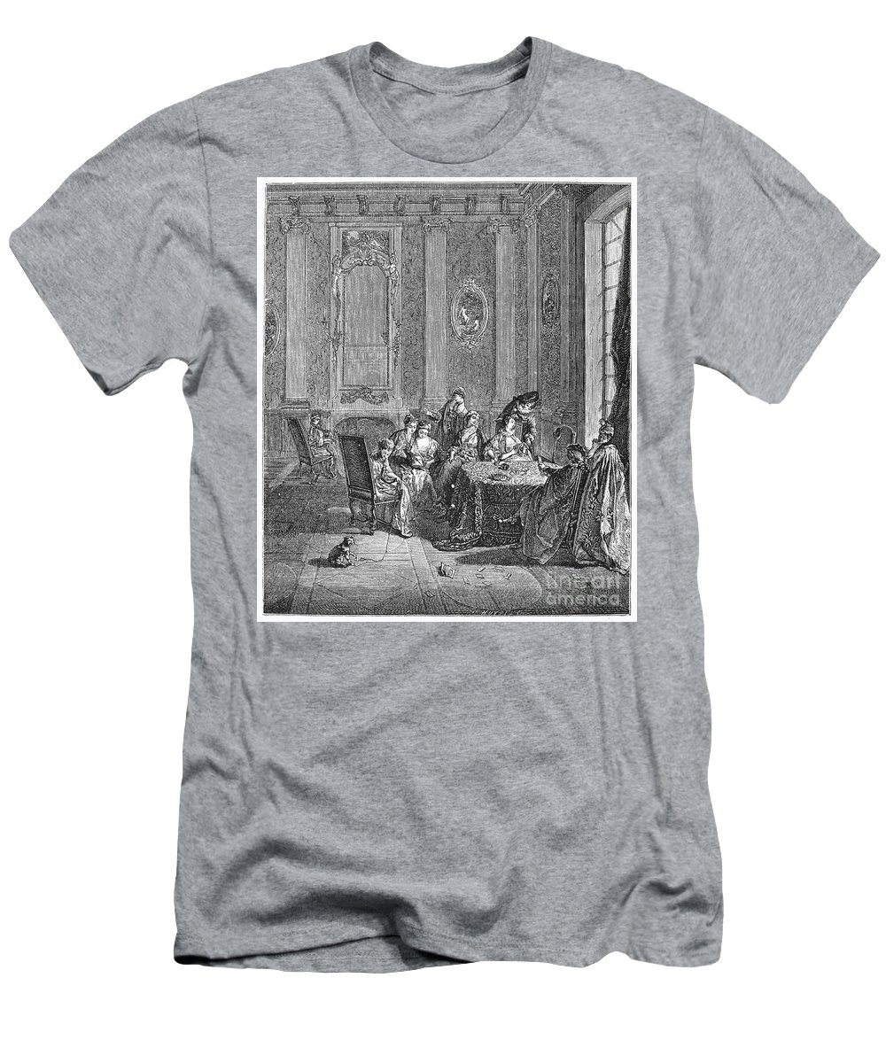 18th Century Men's T-Shirt (Athletic Fit) featuring the photograph France: Gambling, C1750 by Granger