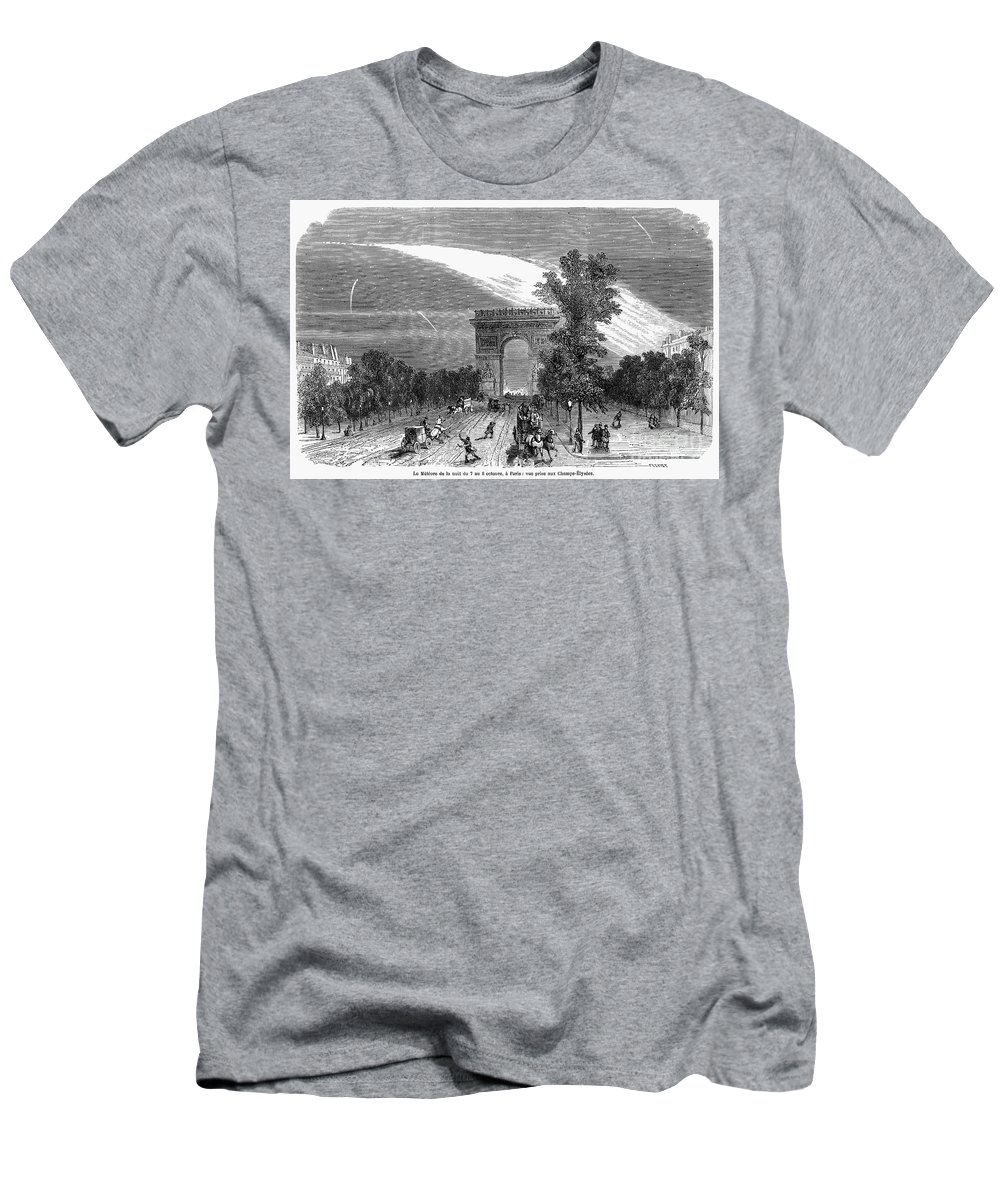 1868 Men's T-Shirt (Athletic Fit) featuring the photograph France: Meteor, 1868 by Granger
