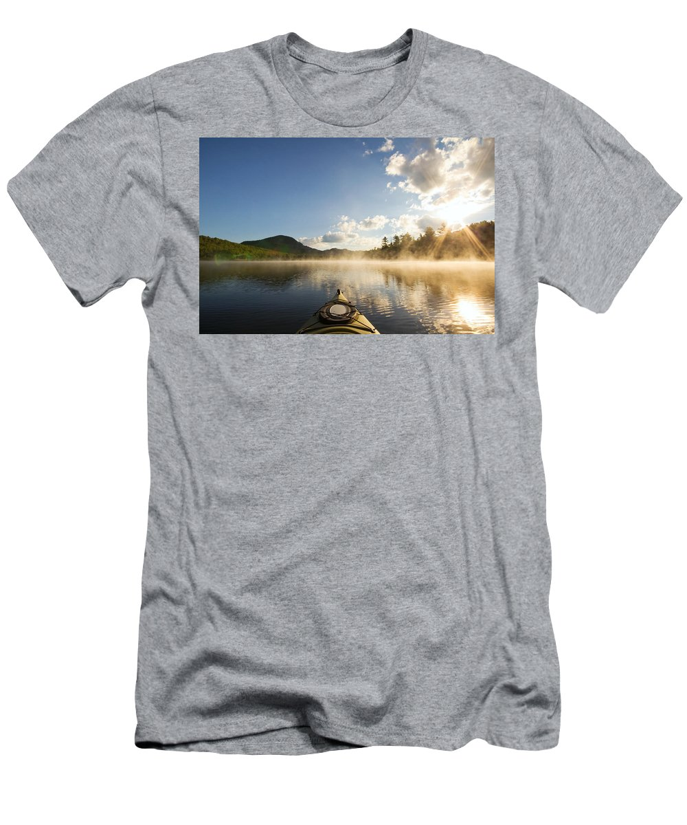Kayak Men's T-Shirt (Athletic Fit) featuring the photograph Free To Be by Stephanie McDowell