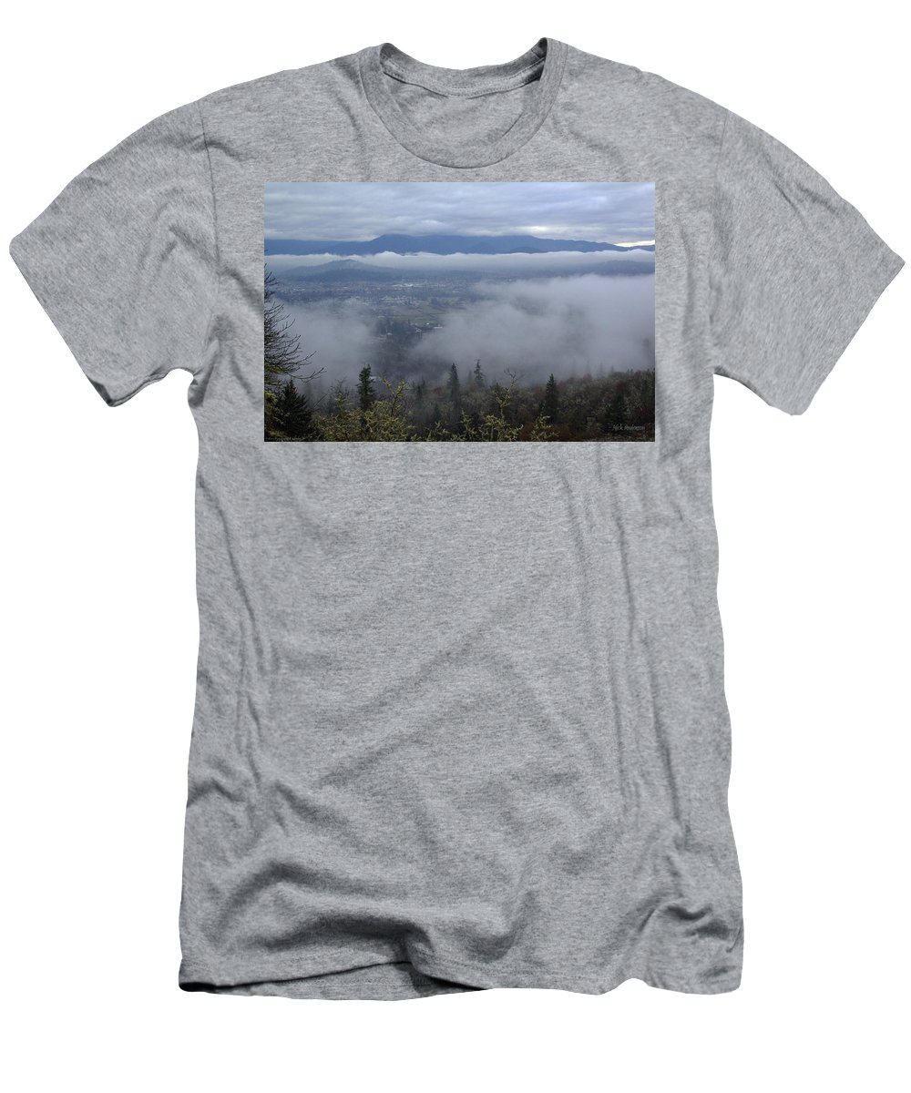 Weather Men's T-Shirt (Athletic Fit) featuring the photograph Grants Pass Weather by Mick Anderson