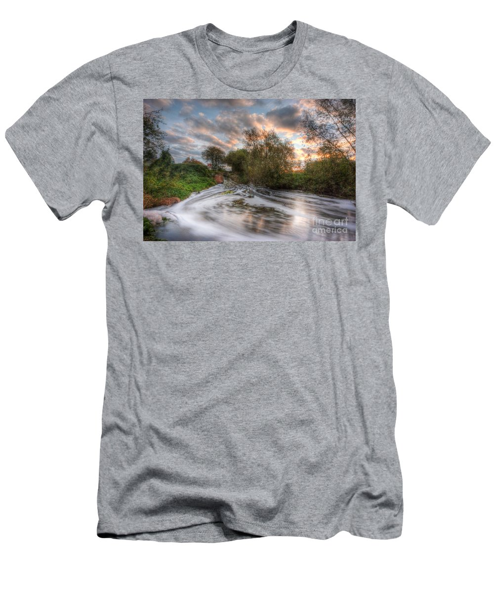 Hdr Men's T-Shirt (Athletic Fit) featuring the photograph Gush Forth 2.0 by Yhun Suarez