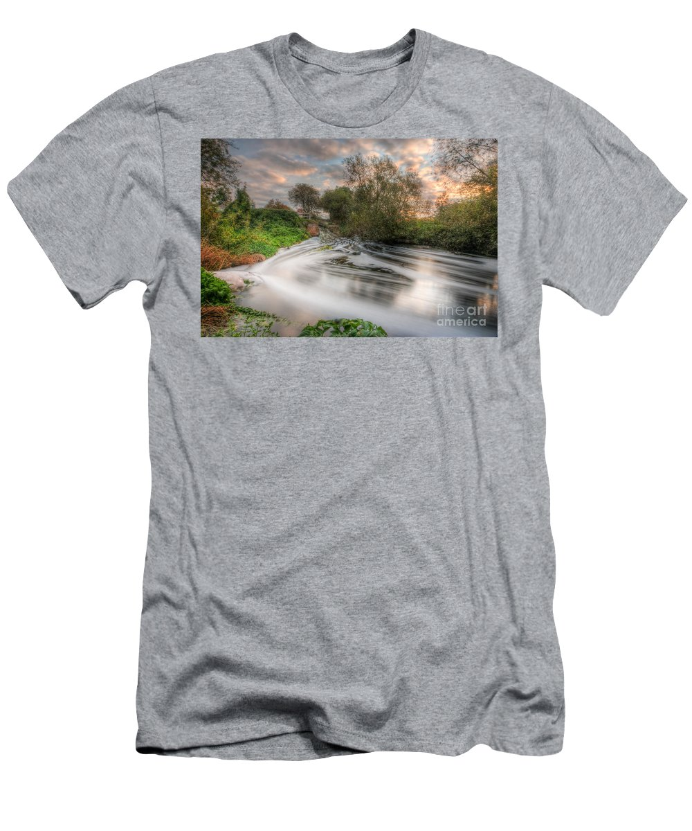 Hdr Men's T-Shirt (Athletic Fit) featuring the photograph Gush Forth 3.0 by Yhun Suarez
