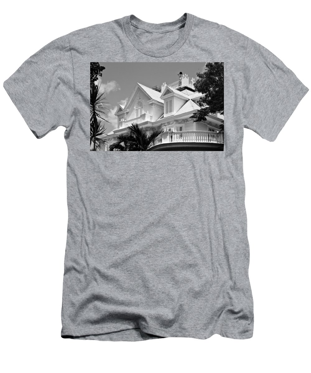Architecture Men's T-Shirt (Athletic Fit) featuring the photograph Halloween Lookout by Ed Gleichman