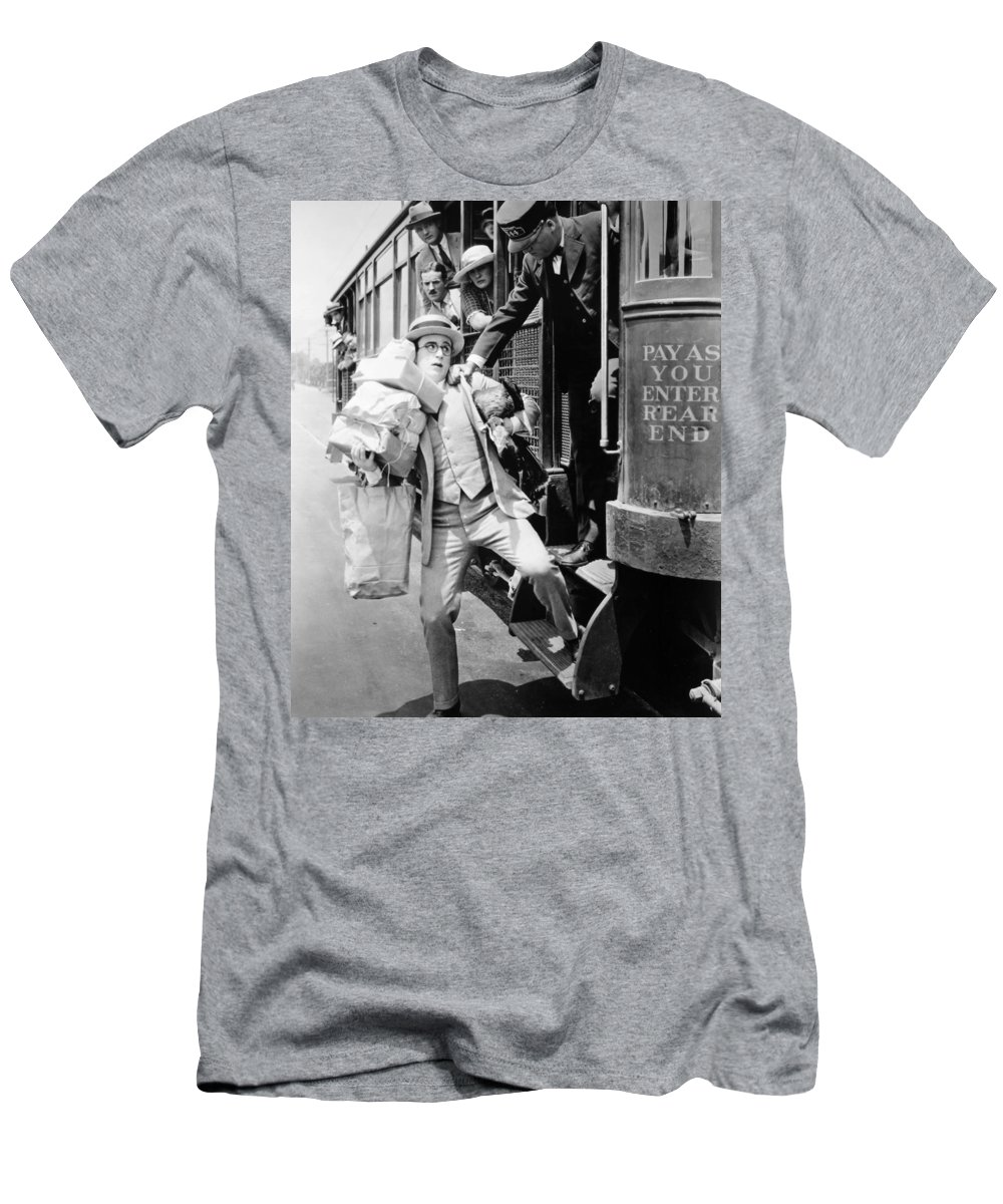 -nec09- Men's T-Shirt (Athletic Fit) featuring the photograph Harold Lloyd (1889-1971) by Granger