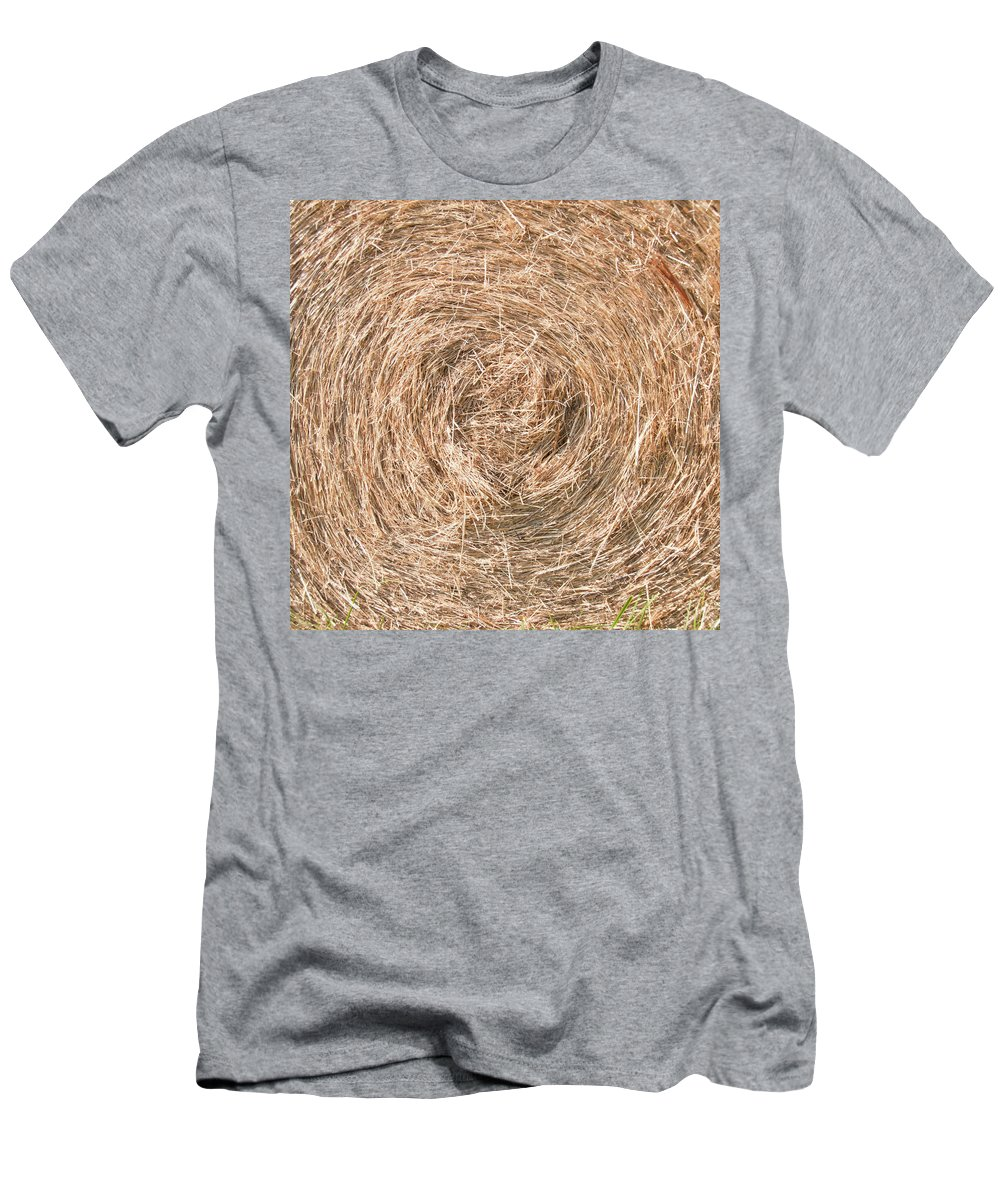 Barn Men's T-Shirt (Athletic Fit) featuring the photograph Hay 7207 by Guy Whiteley