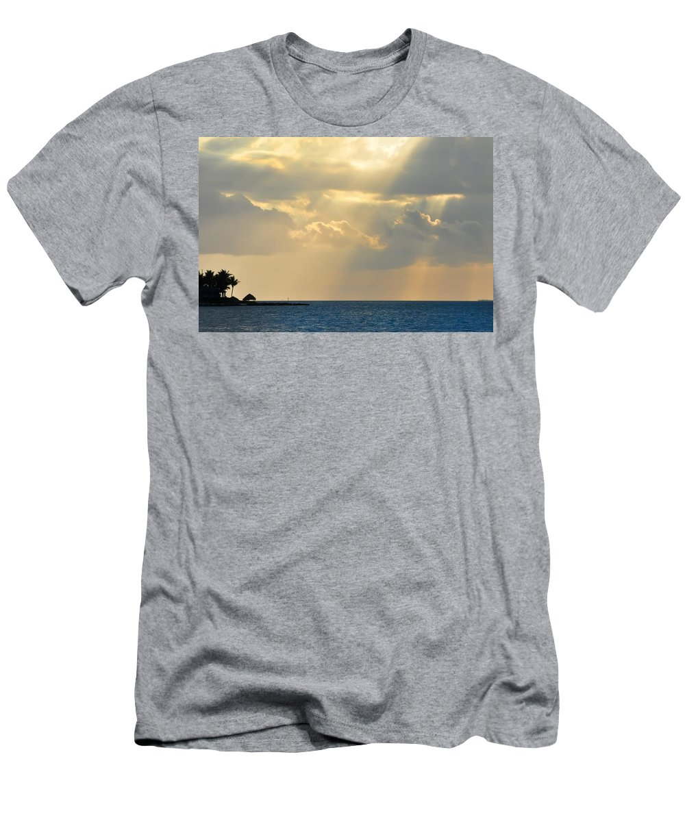 Heaven Men's T-Shirt (Athletic Fit) featuring the photograph Heaven Looks Down On Paradise - Key West Florida by Bill Cannon