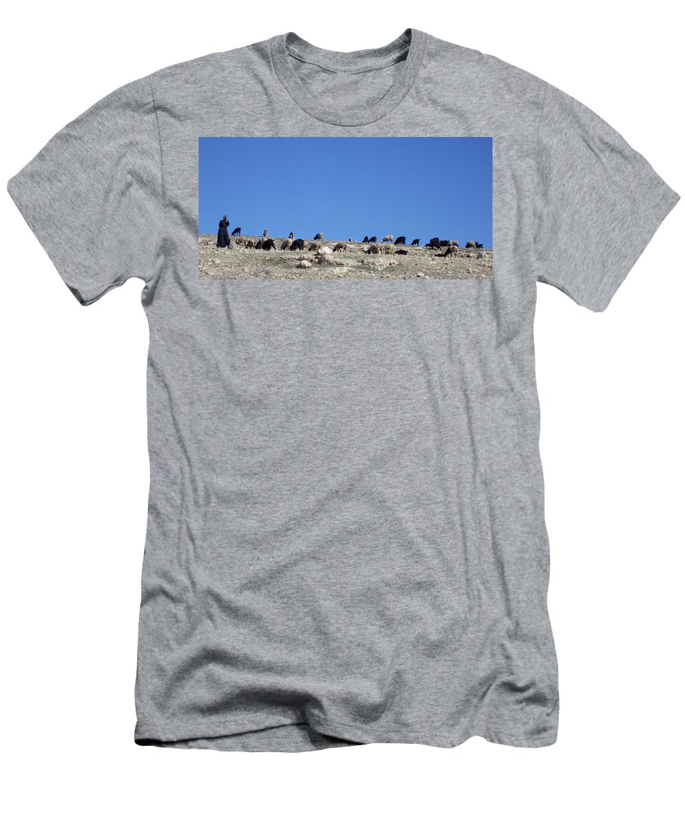 Morocco Men's T-Shirt (Athletic Fit) featuring the photograph Herd In The Atlas Mountains 02 by Miki De Goodaboom