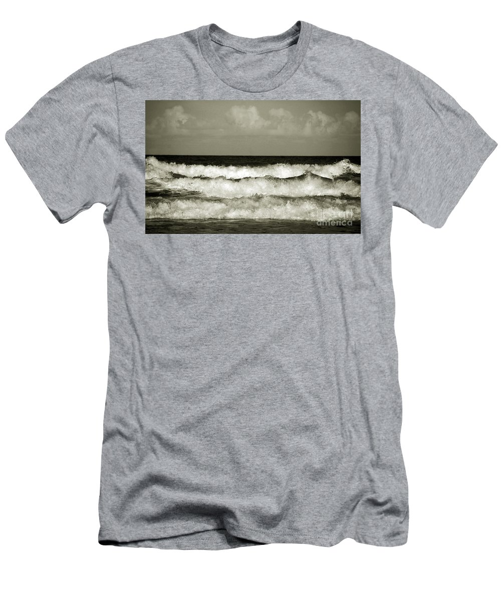 Tide Men's T-Shirt (Athletic Fit) featuring the photograph High Tide by Susanne Van Hulst