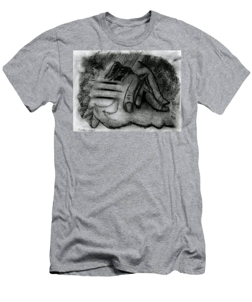 Holding Us Together Men's T-Shirt (Athletic Fit) featuring the painting Holding Us Together by Taylor Webb