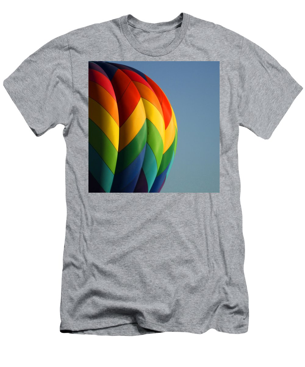 Balloons Men's T-Shirt (Athletic Fit) featuring the photograph Hot Air Balloon 3 by Ernie Echols
