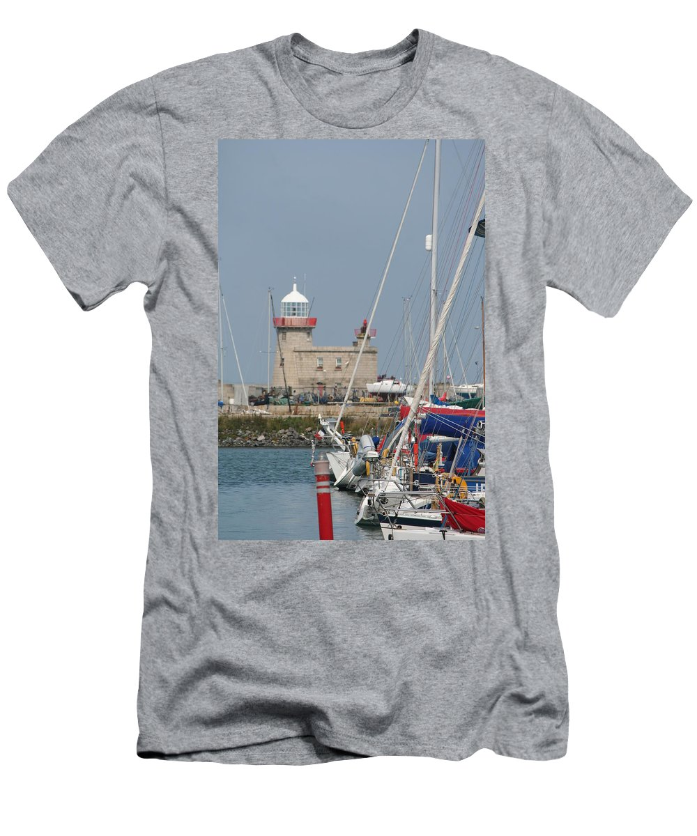 Howth Ireland Men's T-Shirt (Athletic Fit) featuring the photograph Howth Lighthouse 0004 by Carol Ann Thomas