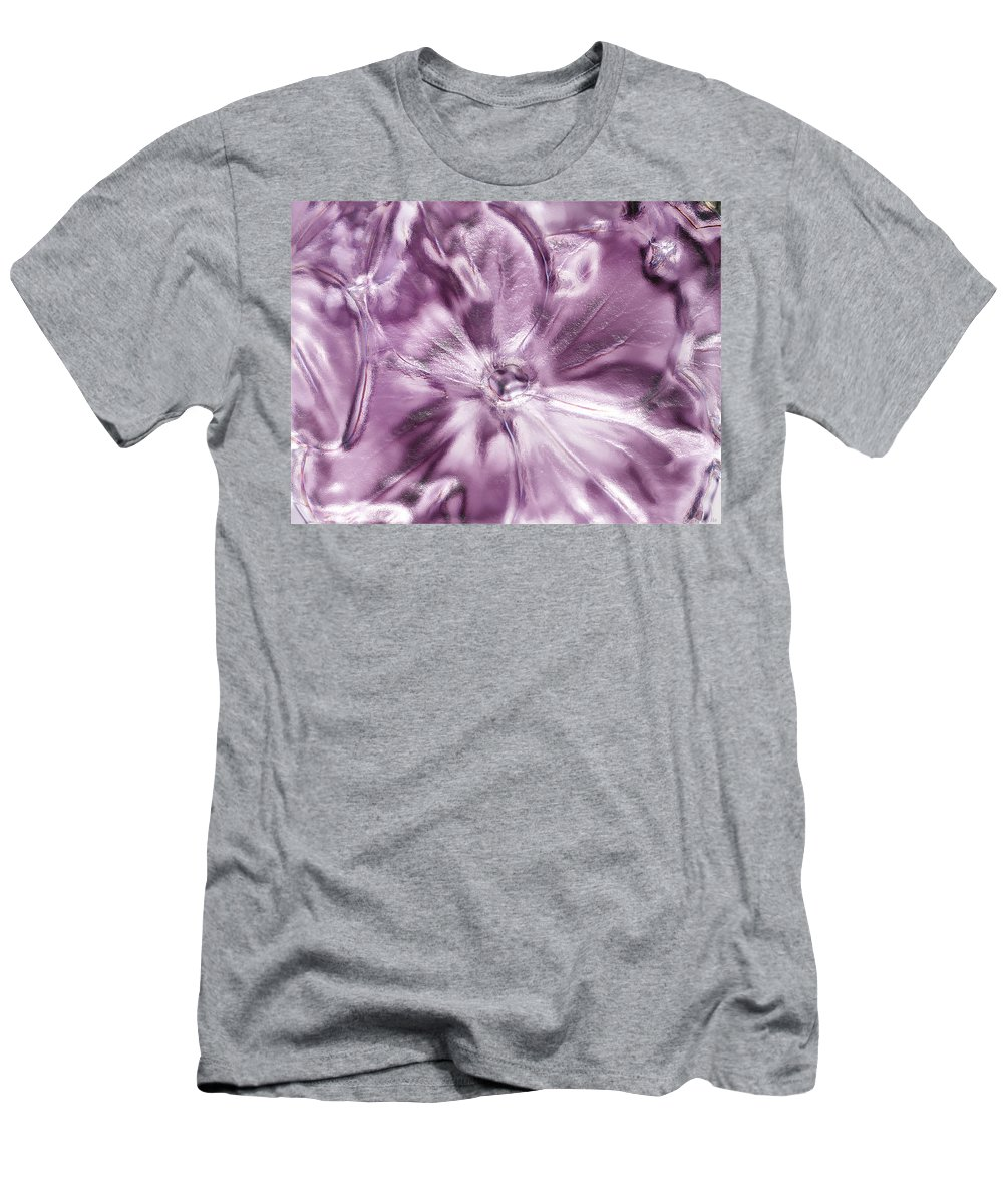 Nature Men's T-Shirt (Athletic Fit) featuring the digital art Iced Hydrangea Bloom by Debbie Portwood