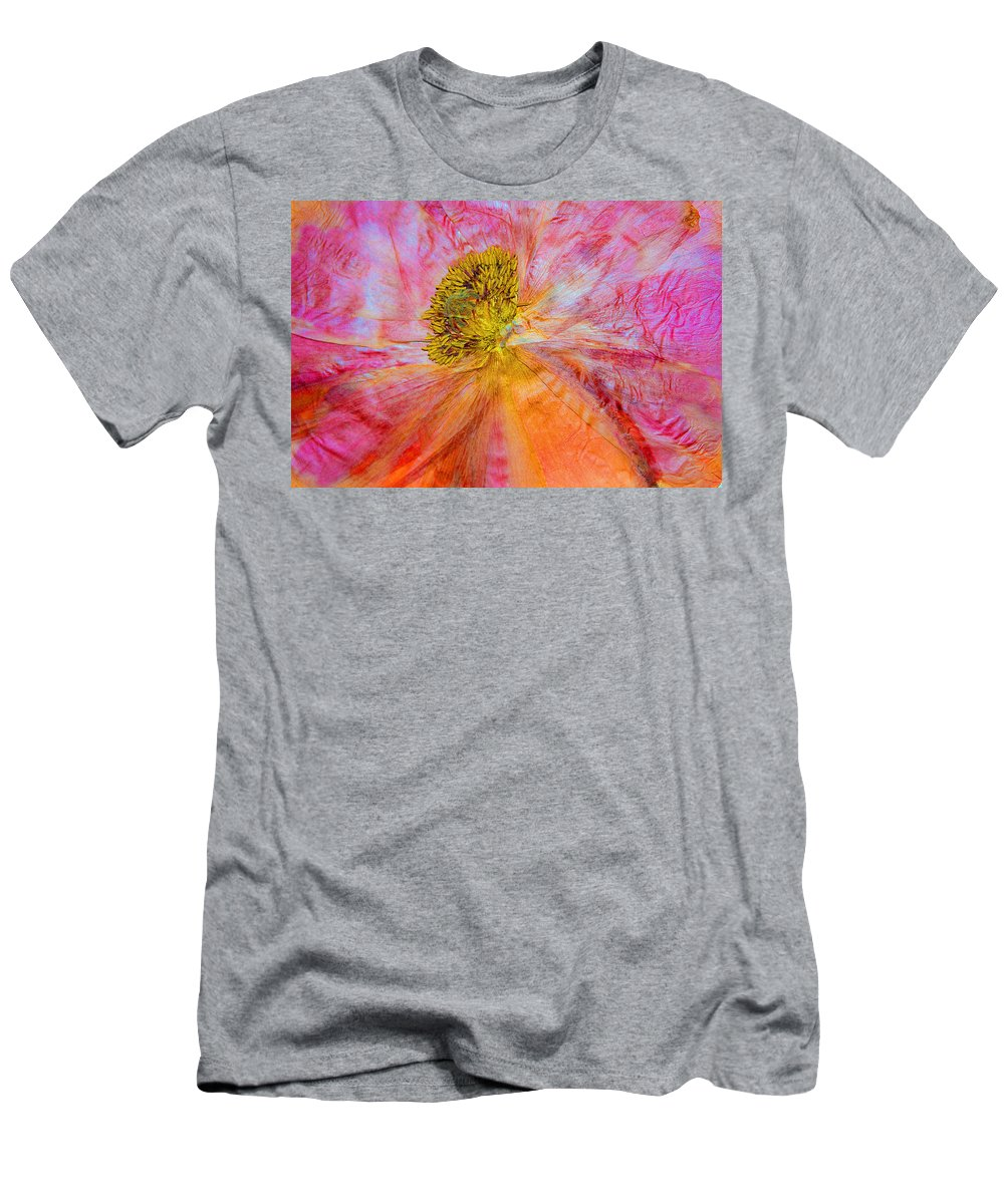 Dried Poppy Men's T-Shirt (Athletic Fit) featuring the mixed media In Another Light by Marie Jamieson