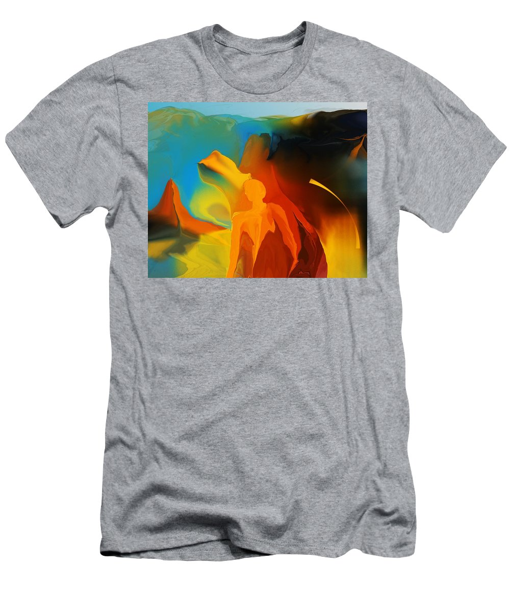Fine Art Men's T-Shirt (Athletic Fit) featuring the digital art In The Begining by David Lane