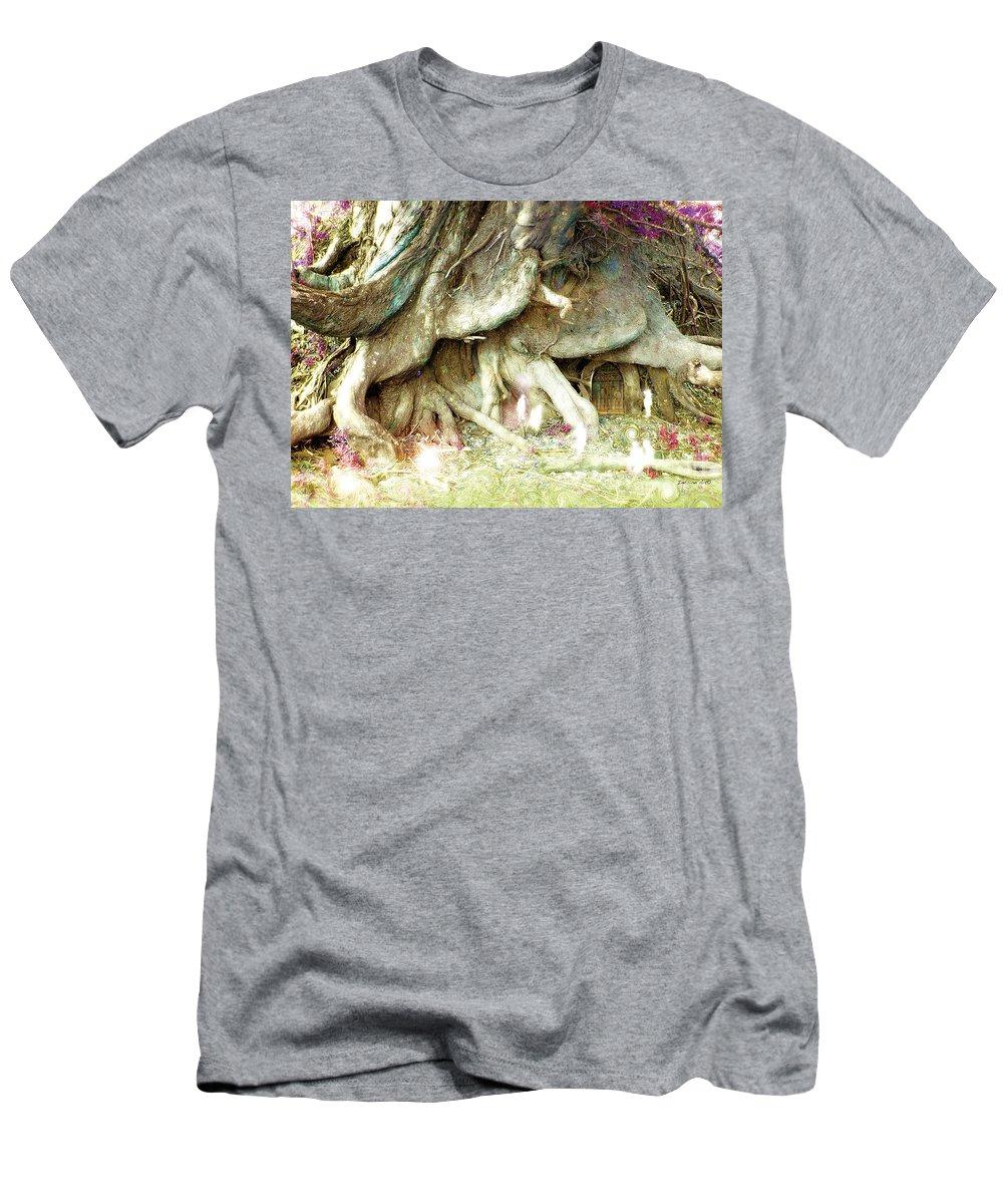 Elves Men's T-Shirt (Athletic Fit) featuring the photograph Into The Light Elves by Bobbie S Richardson