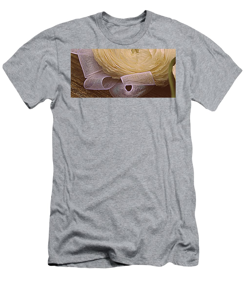 Flower Men's T-Shirt (Athletic Fit) featuring the photograph Ivory by Marysue Ryan