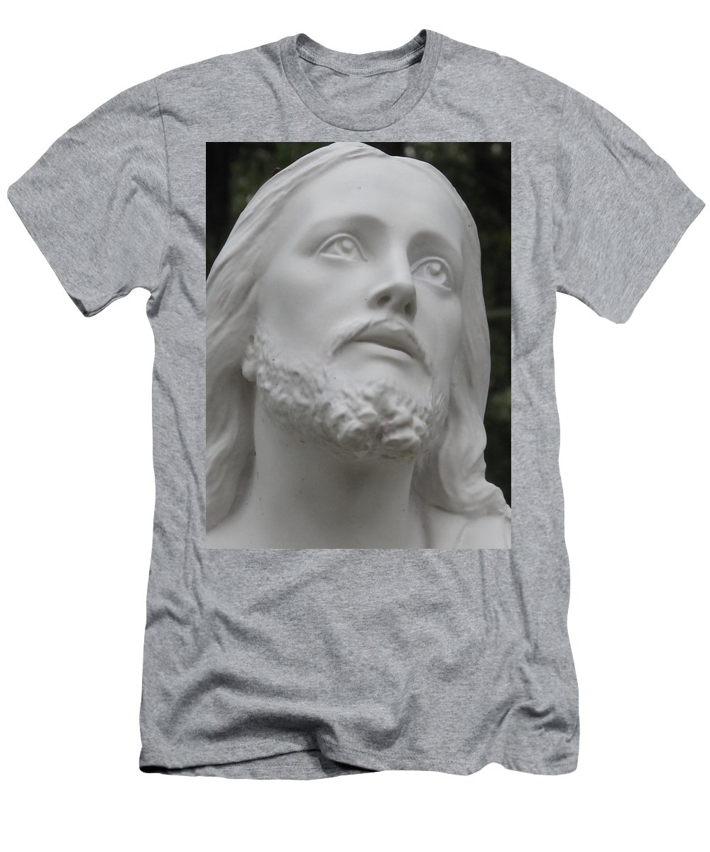 Jesus Statue Men's T-Shirt (Athletic Fit) featuring the photograph Jesus by Michele Nelson