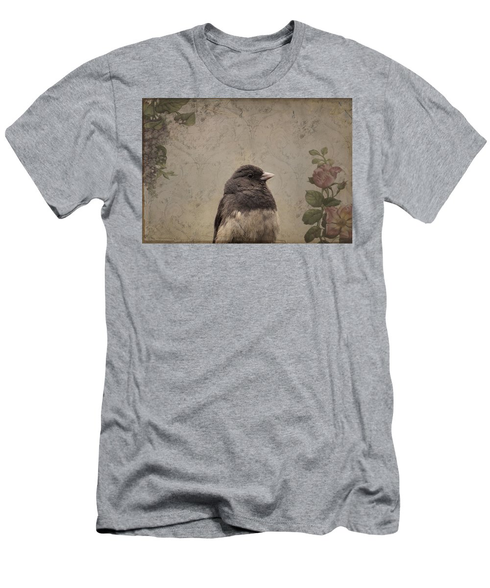 Bird Men's T-Shirt (Athletic Fit) featuring the photograph Junco by Todd Hostetter