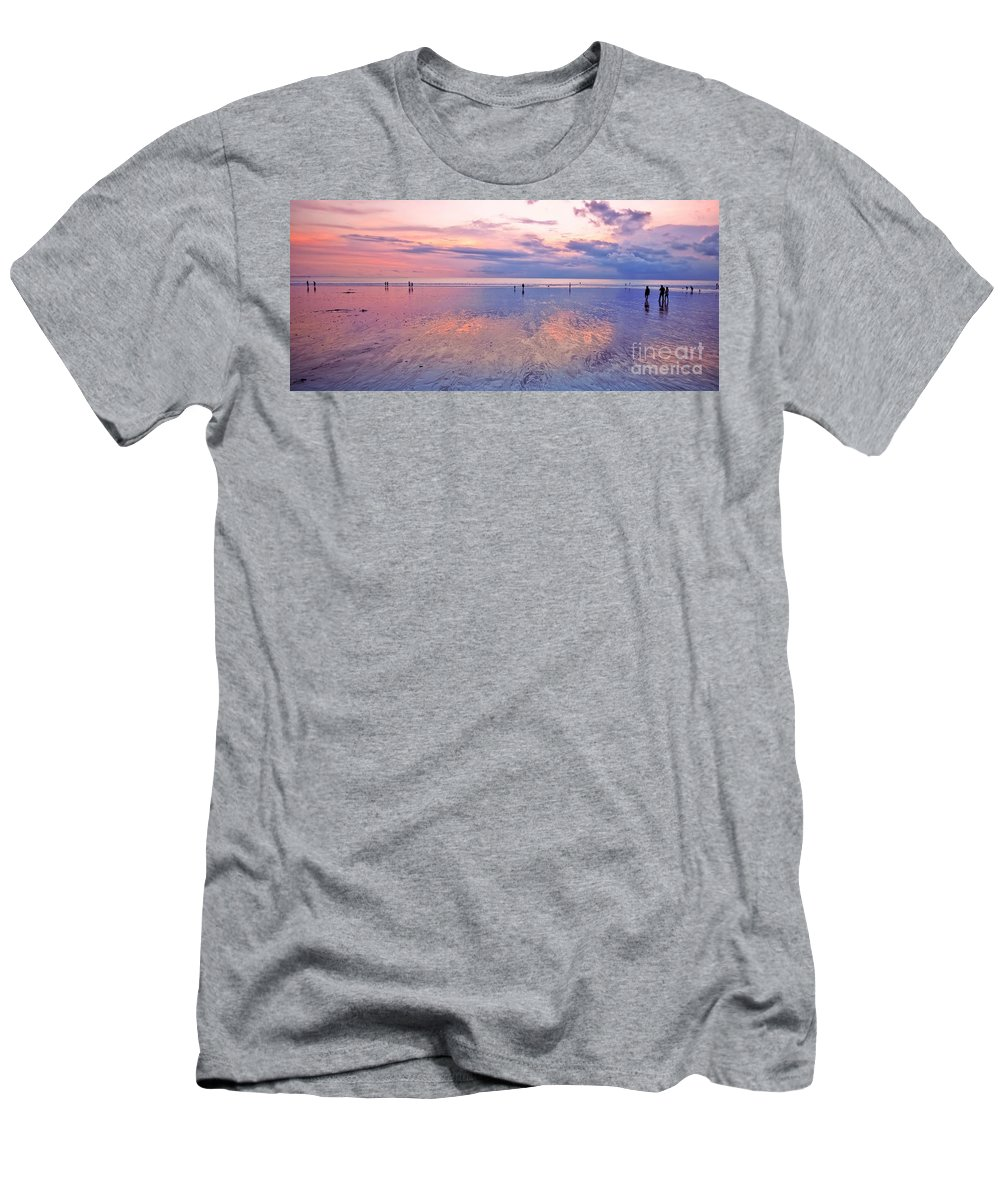 Beach Men's T-Shirt (Athletic Fit) featuring the photograph Kuta Beach Bali by Charuhas Images
