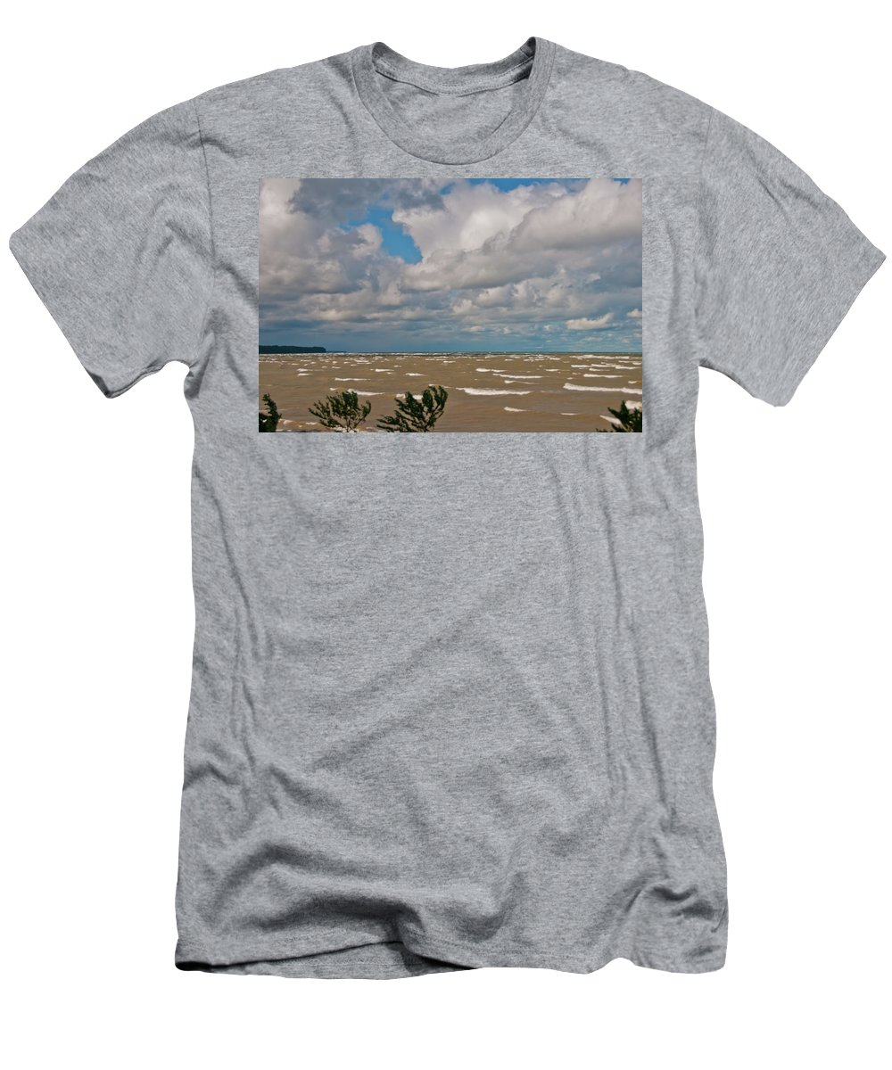 Men's T-Shirt (Athletic Fit) featuring the photograph Lake Erie Storm 2368 by Guy Whiteley
