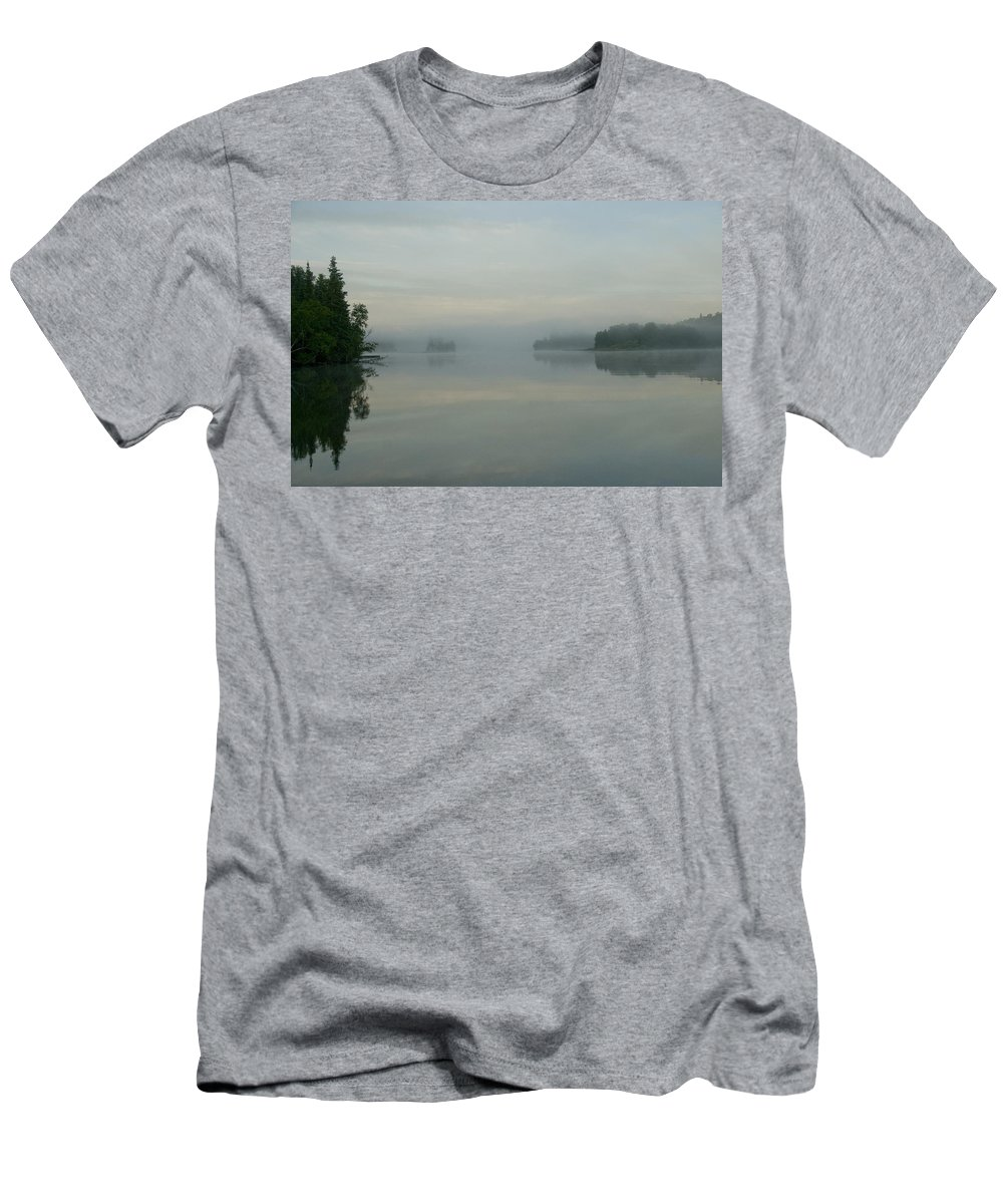 Beauty In Nature Men's T-Shirt (Athletic Fit) featuring the photograph Lake Of The Woods, Ontario, Canada View by Keith Levit