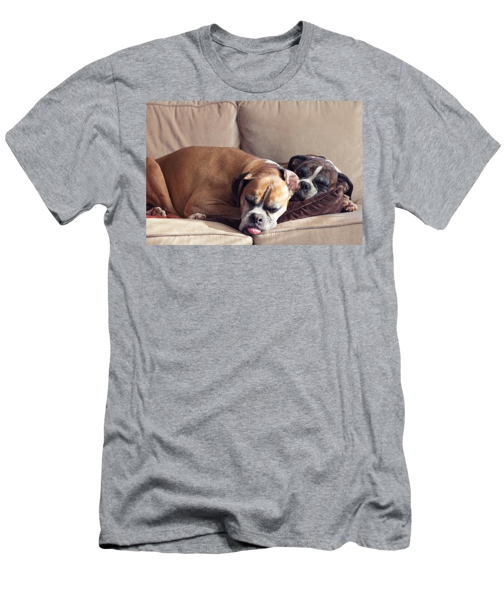 Boxer Men's T-Shirt (Athletic Fit) featuring the photograph Lazy Boxers by Stephanie McDowell