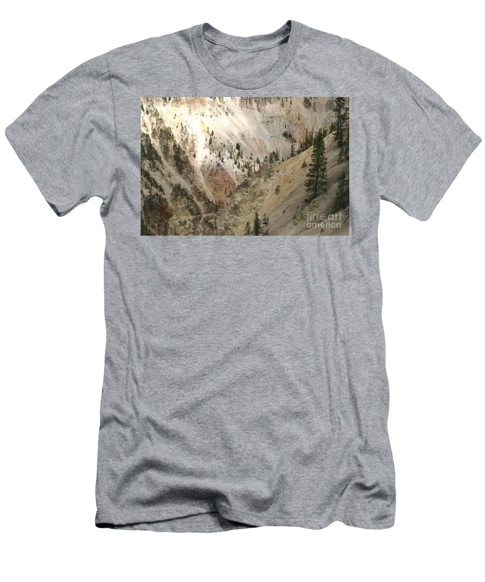 Grand Canyon Men's T-Shirt (Athletic Fit) featuring the photograph Light And Shadows In The Grand Canyon In Yellowstone by Living Color Photography Lorraine Lynch