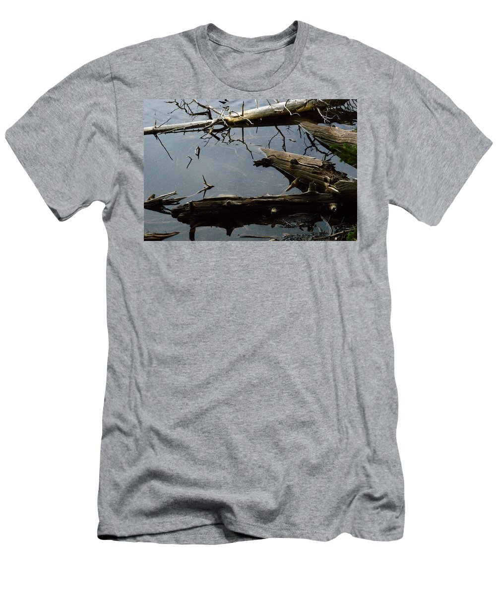 Drift Wood Men's T-Shirt (Athletic Fit) featuring the photograph Log Jam by Brian Kerls