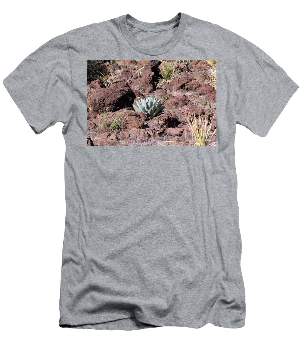 Agave Men's T-Shirt (Athletic Fit) featuring the photograph Lone Agave by Alycia Christine