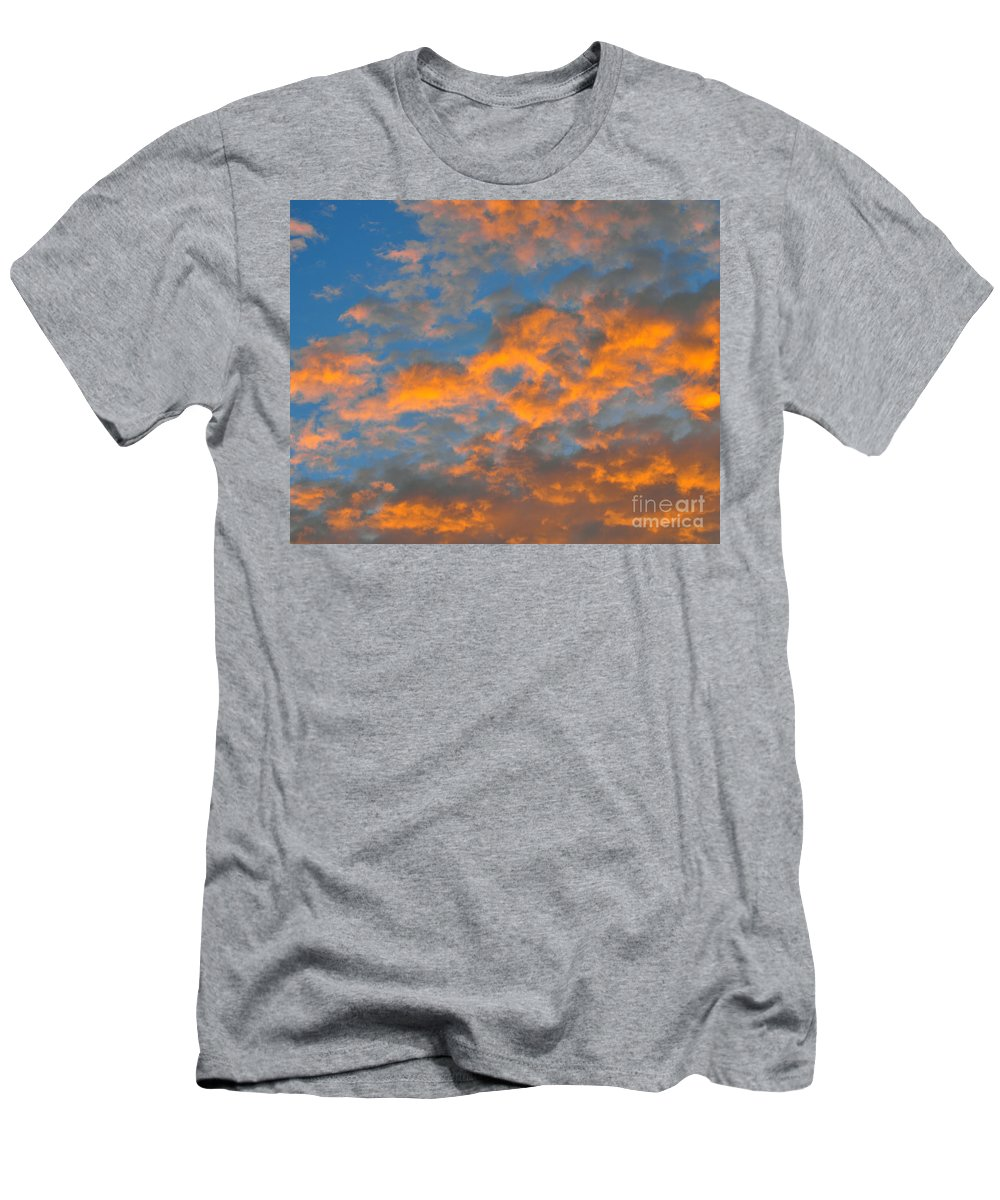 Heart Shaped Cloud Men's T-Shirt (Athletic Fit) featuring the photograph Love From Above by Al Powell Photography USA