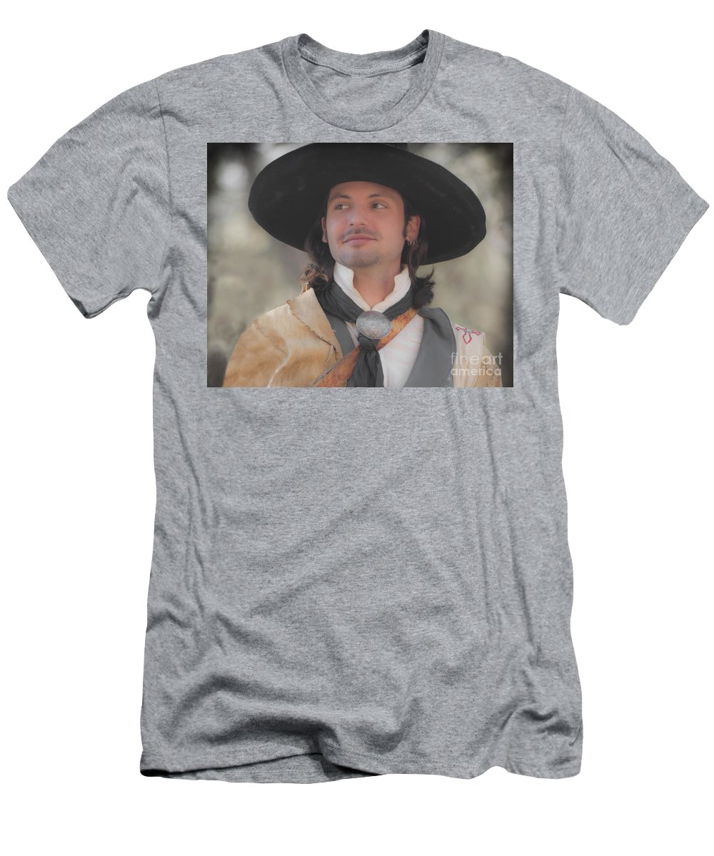 Reenactor Men's T-Shirt (Athletic Fit) featuring the photograph Loving This by Kim Henderson