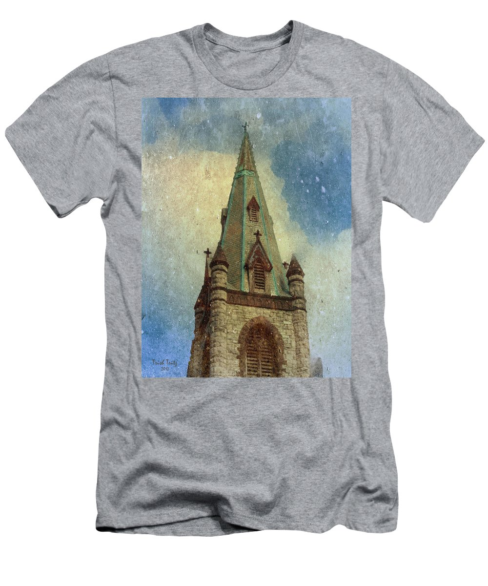 Church Men's T-Shirt (Athletic Fit) featuring the photograph Magical Things Happen Here by Trish Tritz