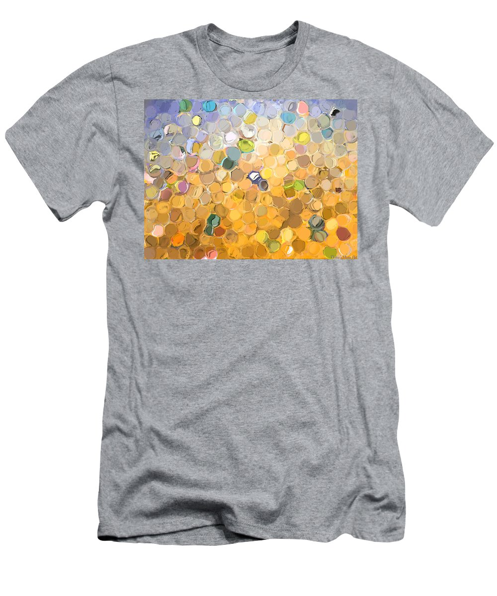Abstract Men's T-Shirt (Athletic Fit) featuring the digital art Marble Collection I Abstract by Debbie Portwood