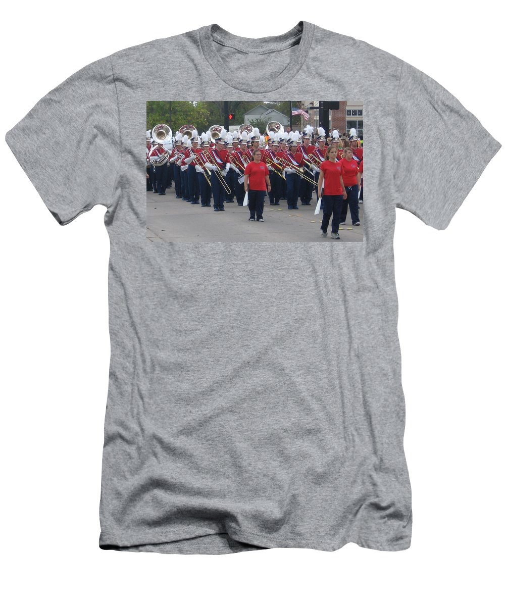 Parade Men's T-Shirt (Athletic Fit) featuring the photograph Marching Band by Amy Hosp
