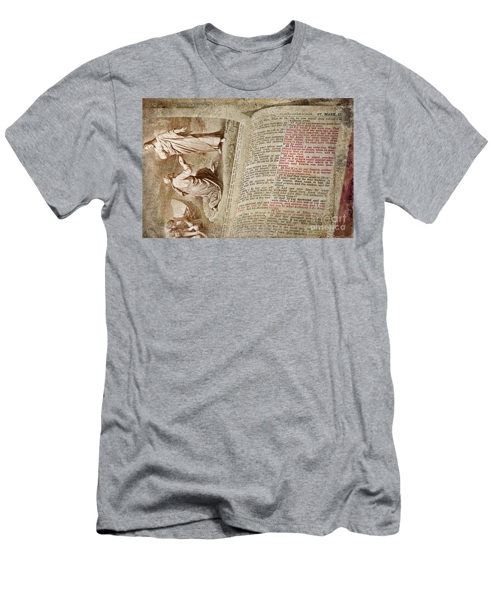 Bible Men's T-Shirt (Athletic Fit) featuring the photograph Mark 12 by David Arment