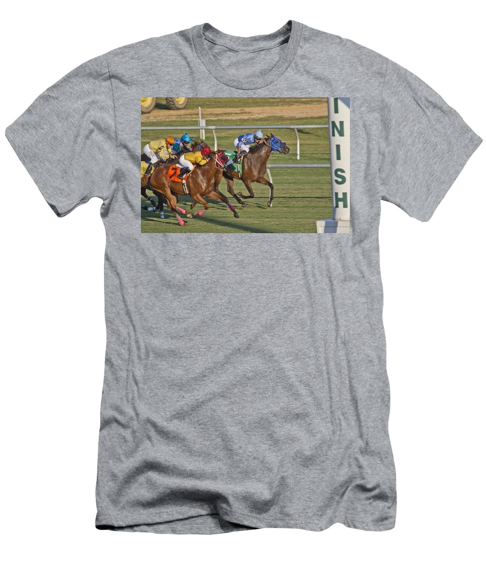 Horse Men's T-Shirt (Athletic Fit) featuring the photograph Moments by Betsy Knapp