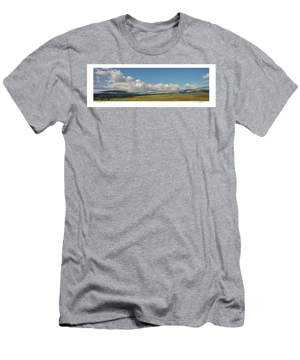 Clouds Men's T-Shirt (Athletic Fit) featuring the photograph Moreno Valley Clouds by Ron Weathers