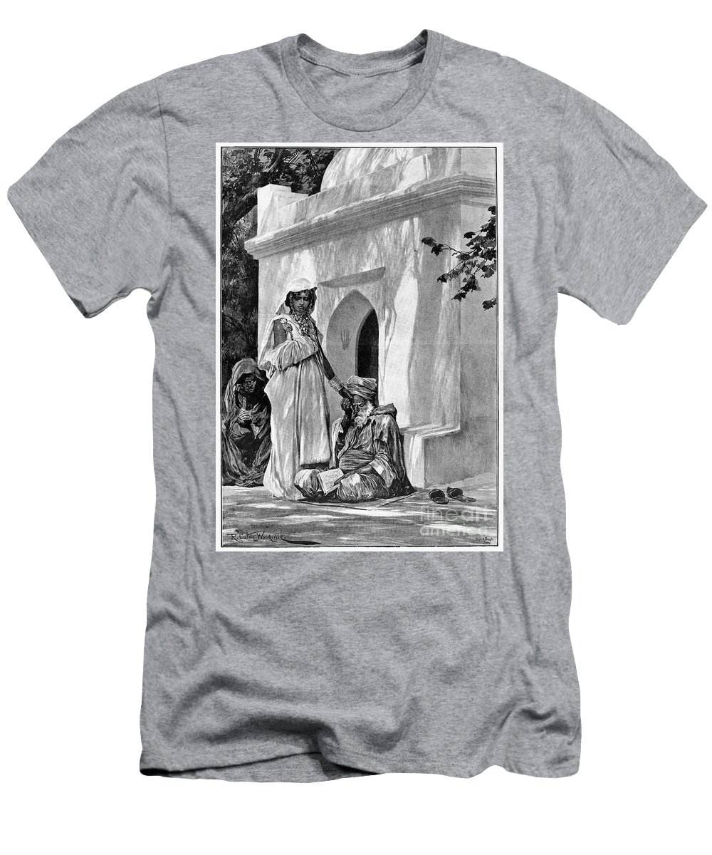 1893 Men's T-Shirt (Athletic Fit) featuring the photograph Morocco: Fortune Teller by Granger