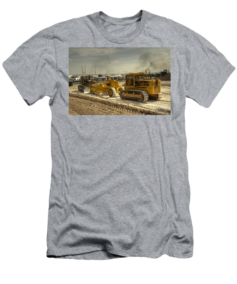 Earth Men's T-Shirt (Athletic Fit) featuring the photograph Moving The Earth by Rob Hawkins