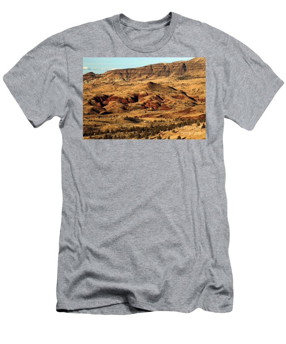 John Day Fossil Beds National Monument Men's T-Shirt (Athletic Fit) featuring the photograph Naturally Painted Hills by Adam Jewell