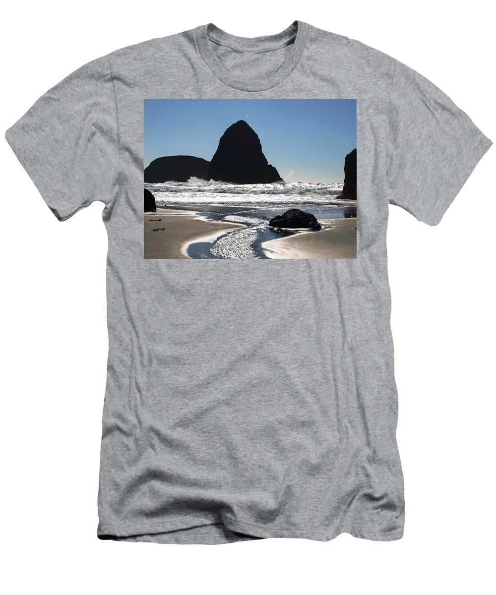 Ocean Men's T-Shirt (Athletic Fit) featuring the digital art Natures Release Value by Teri Schuster