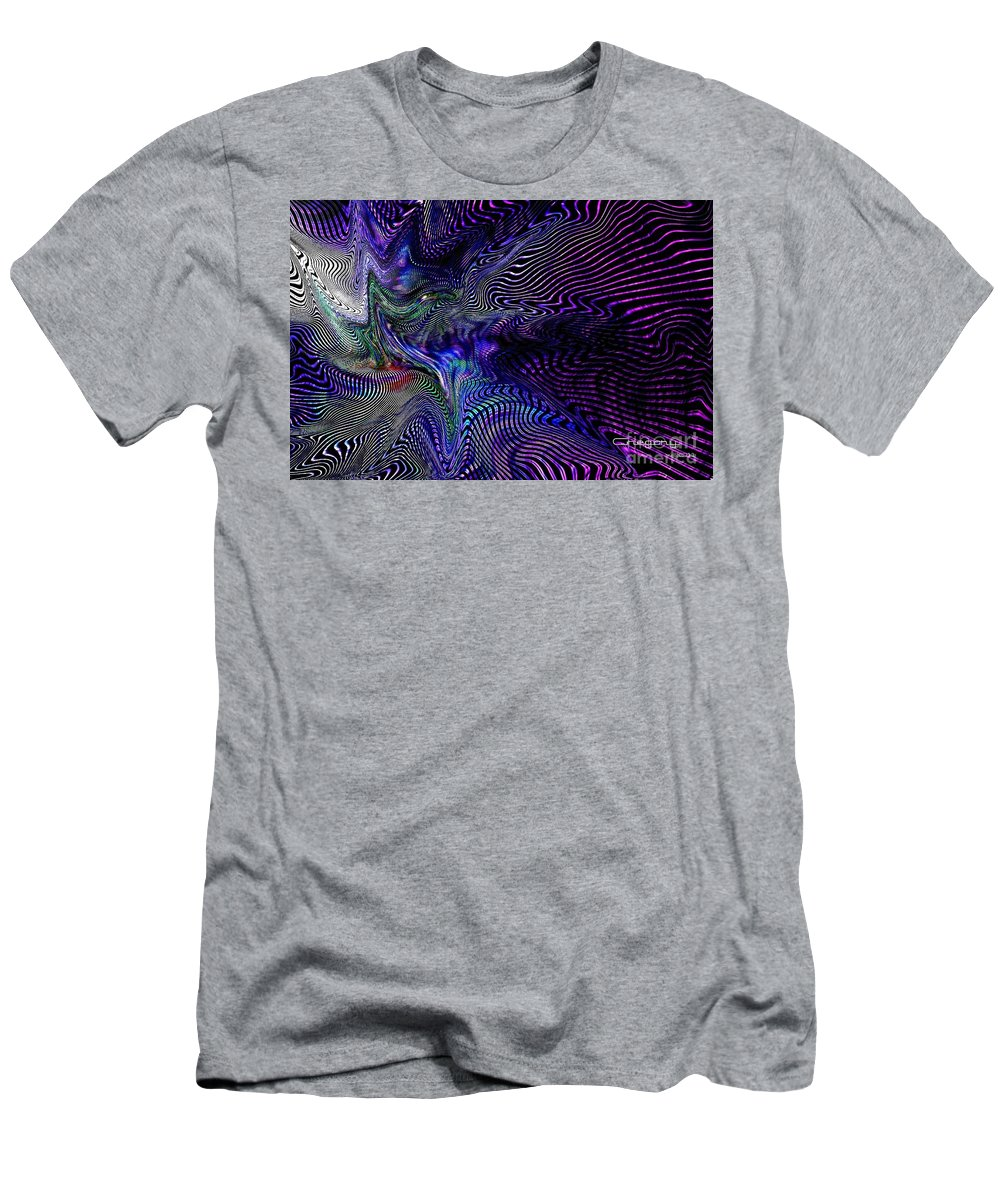 Digital Men's T-Shirt (Athletic Fit) featuring the digital art Neon Zebra by Greg Moores