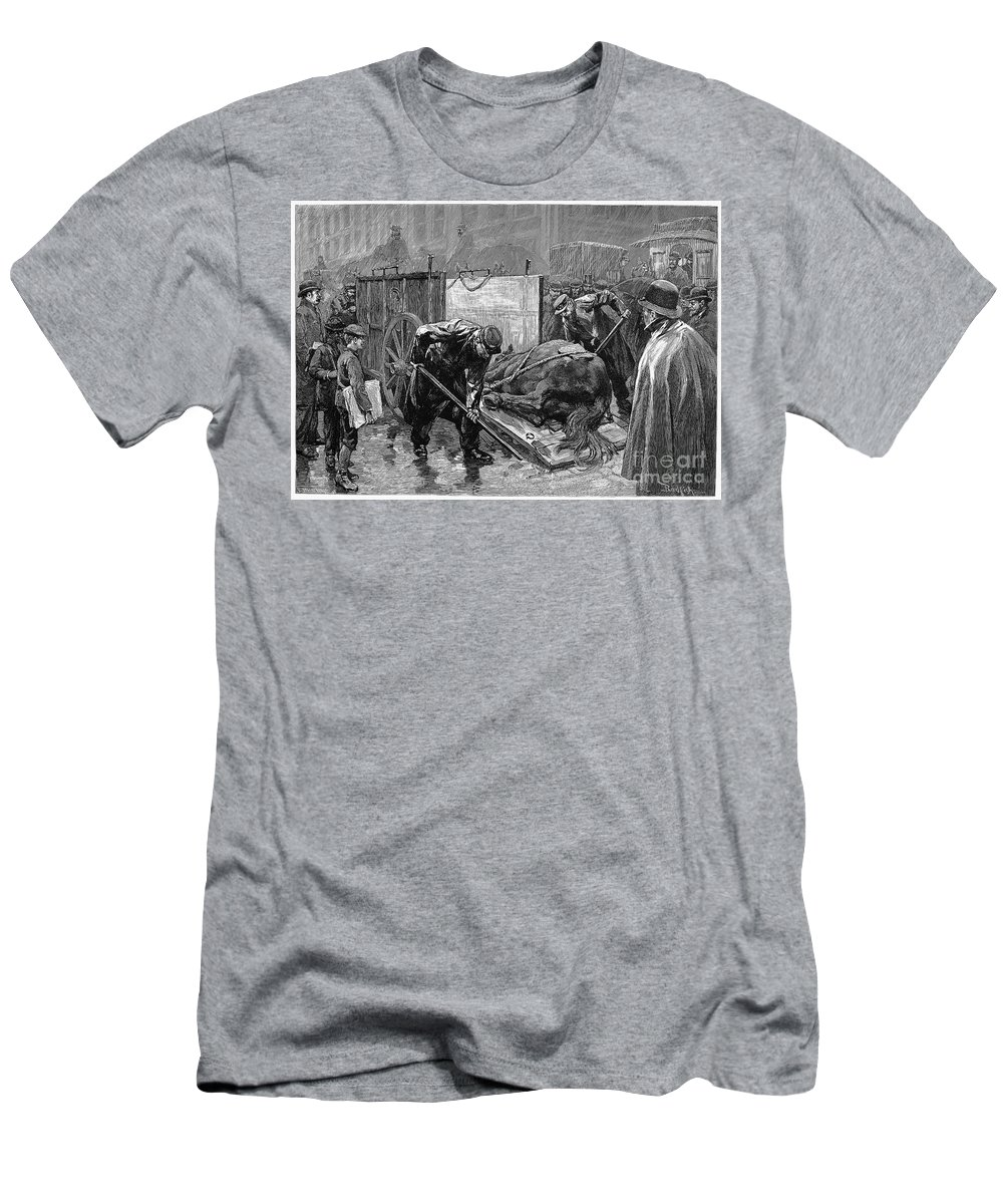 1888 Men's T-Shirt (Athletic Fit) featuring the photograph New York: Aspca, 1888 by Granger