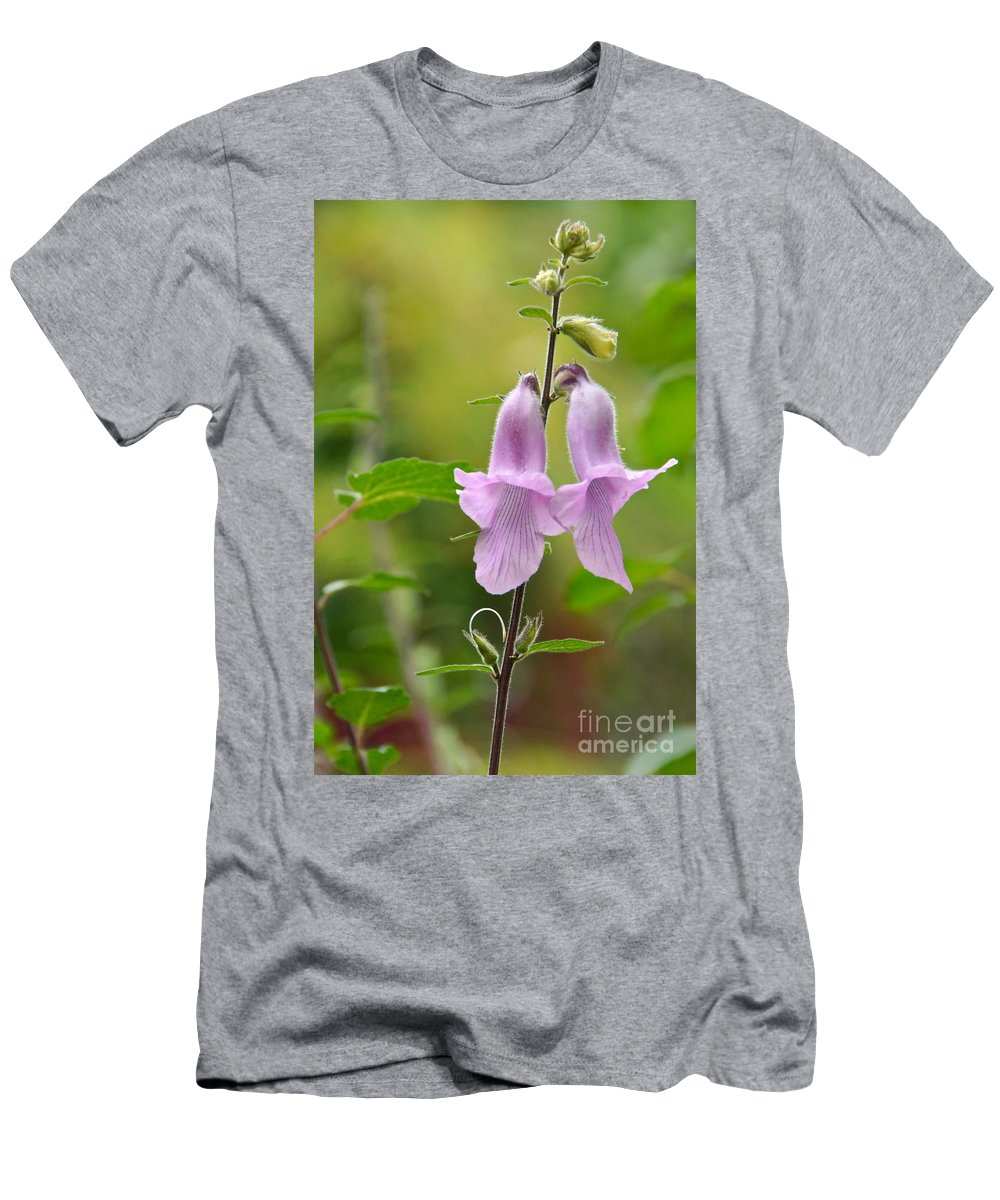 Foxglove Men's T-Shirt (Athletic Fit) featuring the photograph Newborns by Byron Varvarigos