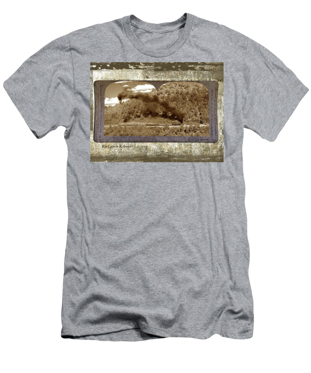 Steam Train Men's T-Shirt (Athletic Fit) featuring the photograph Old Train 1 by Ron Weathers