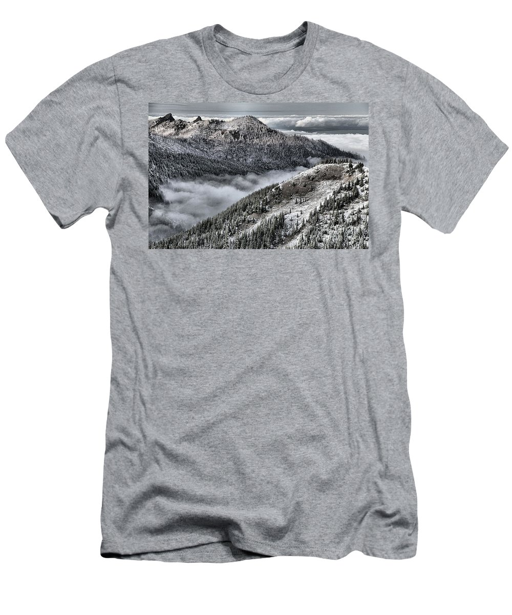 Hurricane Ridge Men's T-Shirt (Athletic Fit) featuring the photograph Olympic Ridge by Adam Jewell