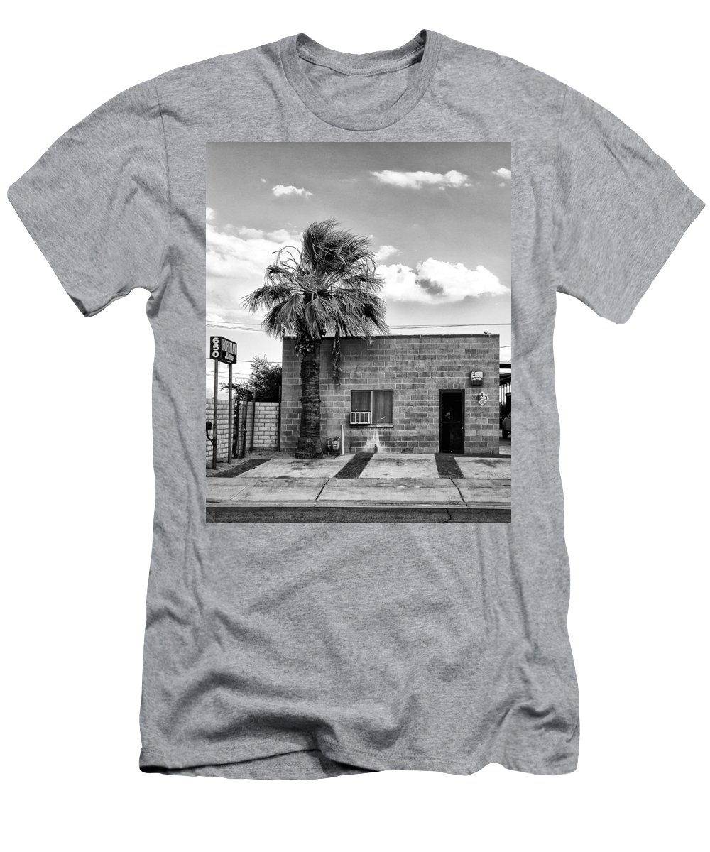 Men's T-Shirt (Athletic Fit) featuring the photograph On Eugene Road Bw by William Dey